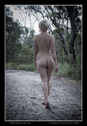 anita nude on a lonely road