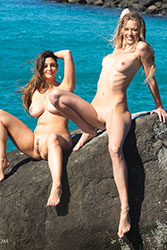 elly and scarlett-morgan topless