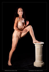gabriella nude on pillar