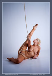 hazel nude with rope