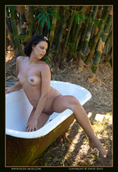 miranda pregnant outdoor bath