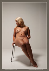 mya nude and the chair