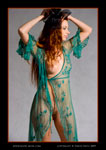 alesia green dress