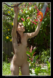 angela naked gardening day