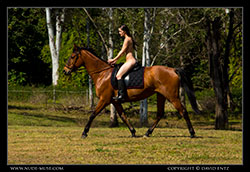 angela nude horse riding video