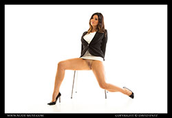 scarlett-morgan business suit video