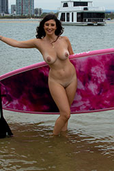 scarlett-morgan paddle board