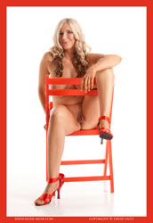 honey red chair